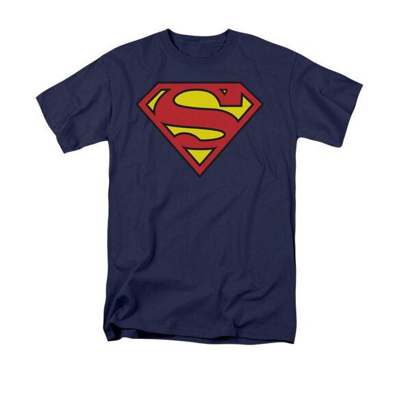 Superman Basic Logo Short Sleeve Adult T-Shirt