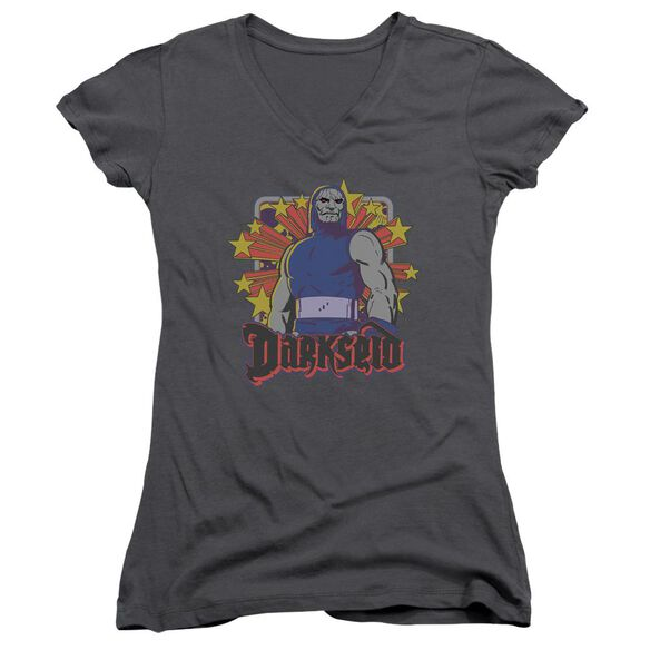Dc Darkseid Stars Junior V Neck T-Shirt