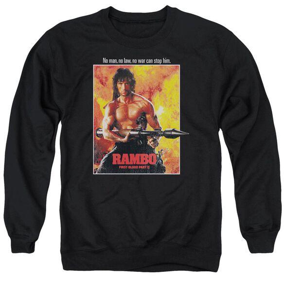Rambo: First Blood Ii Poster Adult Crewneck Sweatshirt