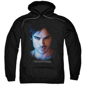 Vampire Diaries Damon Adult Pull Over Hoodie