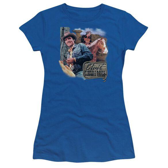 Elvis Ranch Short Sleeve Junior Sheer Royal T-Shirt