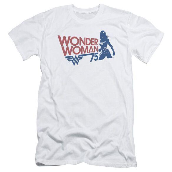 Wonder Woman Ww75 Silhouette Hbo Short Sleeve Adult T-Shirt