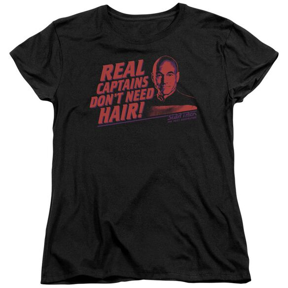 Star Trek Real Captain Short Sleeve Womens Tee T-Shirt