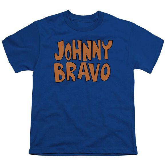 Johnny Bravo Jb Logo Short Sleeve Youth Royal T-Shirt