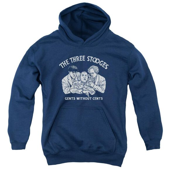 Three Stooges Without Cents Youth Pull Over Hoodie