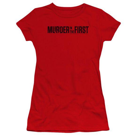 Murder In The First Logo Premium Bella Junior Sheer Jersey