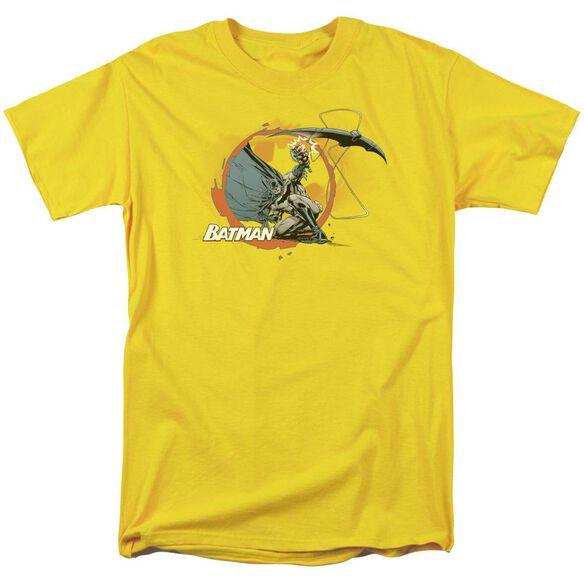 Batman Batarang Shot Short Sleeve Adult Yellow T-Shirt