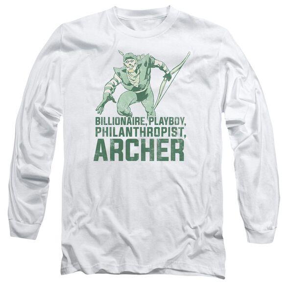 Dc Archer Long Sleeve Adult T-Shirt