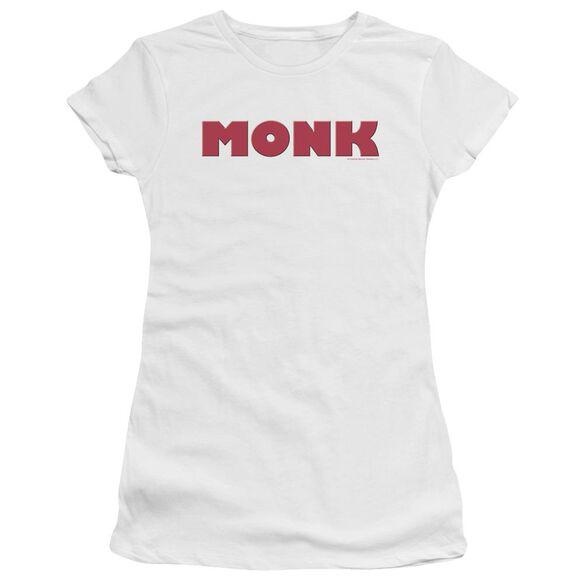 Monk Logo Short Sleeve Junior Sheer T-Shirt