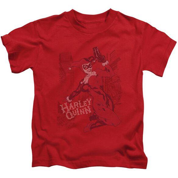 Batman Harley's Packing Short Sleeve Juvenile Red T-Shirt