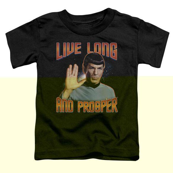 ST ORIGINAL LIVE LONG AND PROSPER - S/S TODDLER TEE - BLACK - T-Shirt