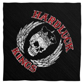 Hardluck Kings Red Letter Distressed Bandana White