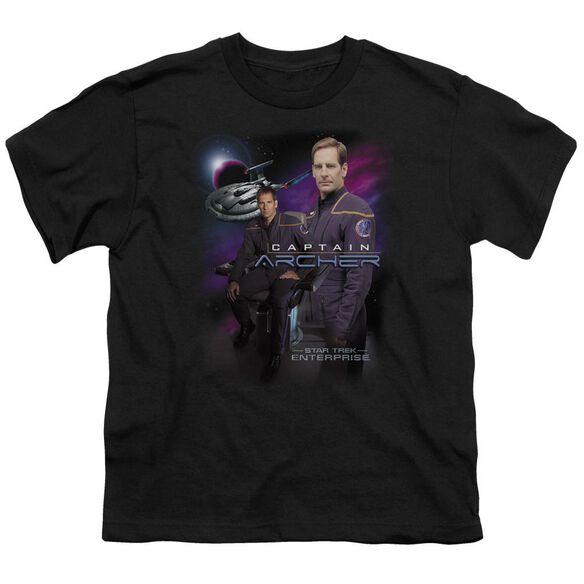 Star Trek Captain Archer Short Sleeve Youth T-Shirt
