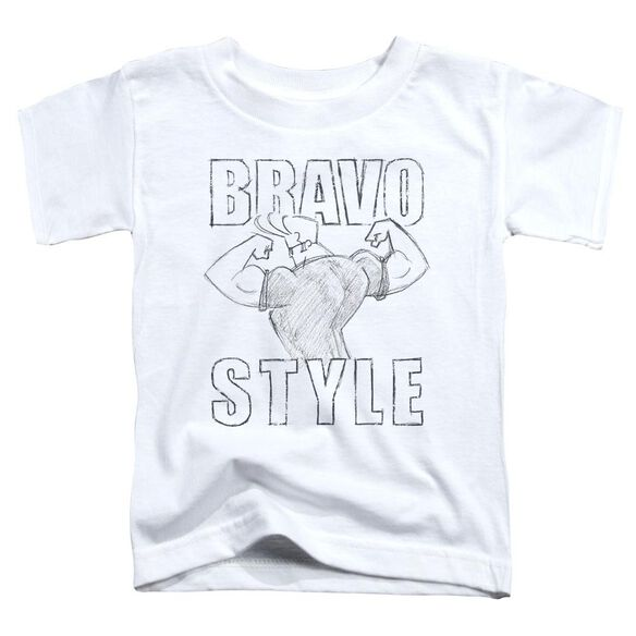 Johnny Bravo Bravo Style Short Sleeve Toddler Tee White T-Shirt