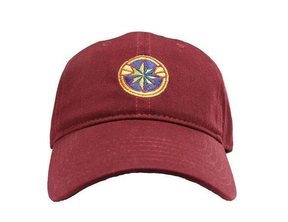 8cabb52801694 Captain Marvel Logo Snapback Hat