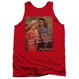 Cry Baby Kiss Me - Adult Tank - Red - Xl