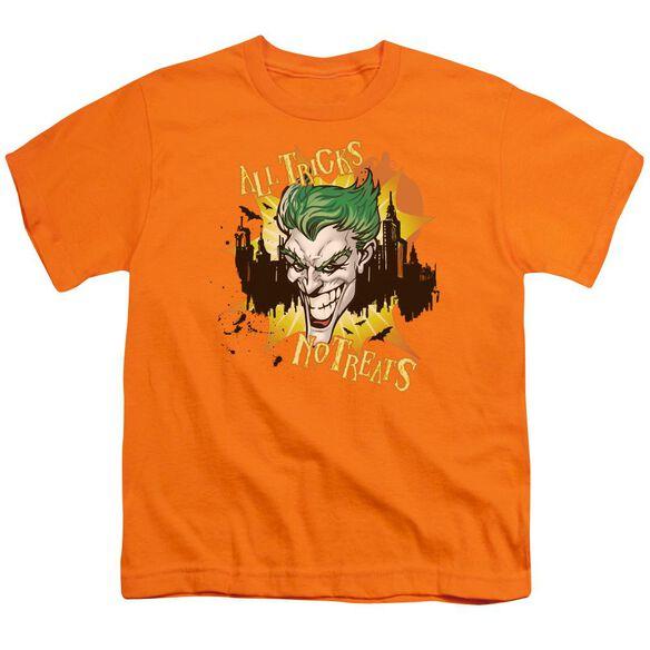 Batman All Tricks No Treats Short Sleeve Youth T-Shirt