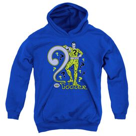 Dc The Riddler-youth Pull-over Hoodie - Royal