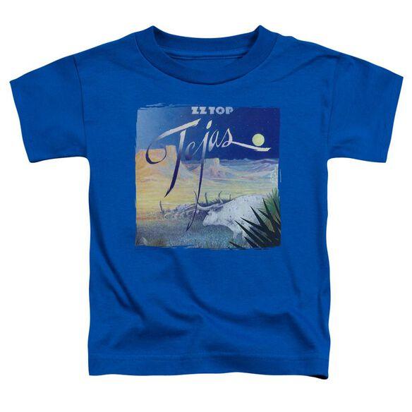 Zz Top Tejas Short Sleeve Toddler Tee Royal Blue T-Shirt