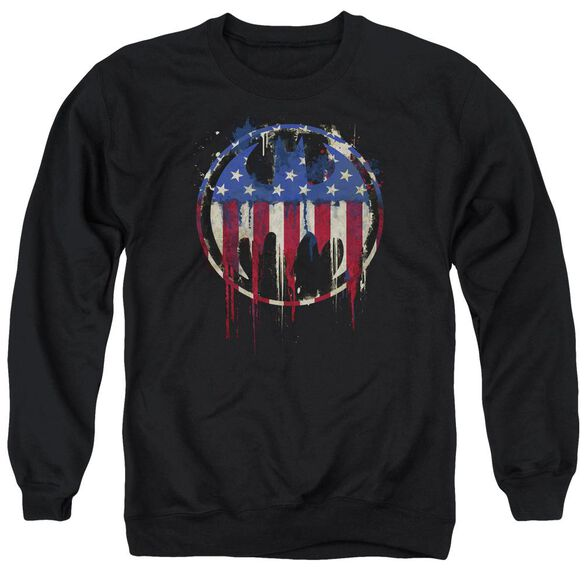 Batman Bleeding Signal Adult Crewneck Sweatshirt
