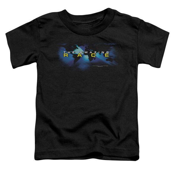 Amazing Race Faded Globe Short Sleeve Toddler Tee Black Sm T-Shirt