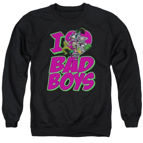 Dc I Heart Bad Boys Adult Crewneck Sweatshirt