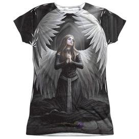 Anne Stokes Prayer For The Fallen Short Sleeve Junior Poly Crew T-Shirt