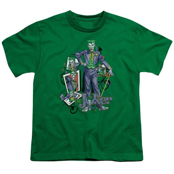 Batman Wild Cards Short Sleeve Youth Kelly T-Shirt
