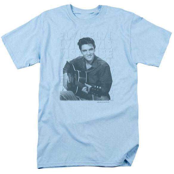 Elvis Repeat Short Sleeve Adult Light T-Shirt