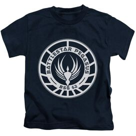 Bsg Pegasus Badge Short Sleeve Juvenile Navy T-Shirt