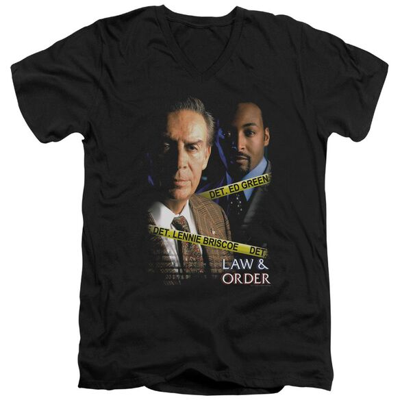 Law And Order Briscoe And Green Short Sleeve Adult V Neck T-Shirt