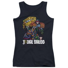 Judge Dredd Bike And Badge Juniors Tank Top