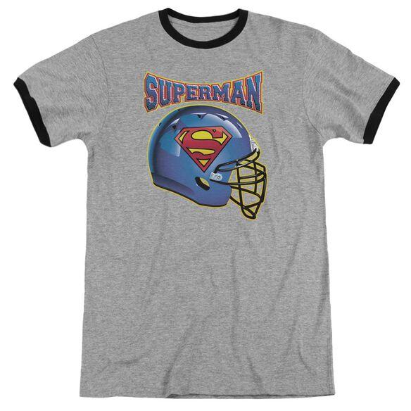 Superman Helmet Adult Ringer Heather Black