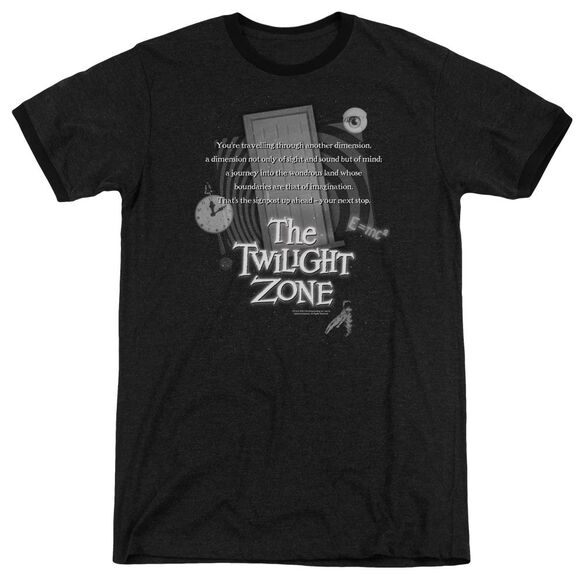 Twilight Zone Monologue - Adult Heather Ringer - Black