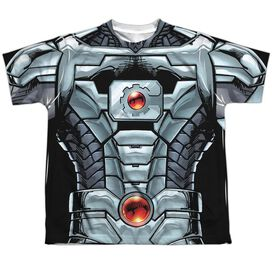Jla Cyborg Short Sleeve Youth Poly Crew T-Shirt