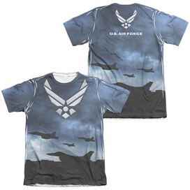 Air Force Take Off (Front Back Print) Adult Poly Cotton Short Sleeve Tee T-Shirt