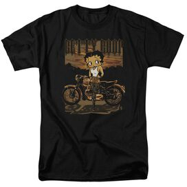 Betty Boop Rebel Rider Short Sleeve Adult T-Shirt