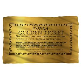 Willy Wonka And The Chocolate Factory I Got A Golden Ticket Fleece Blanket