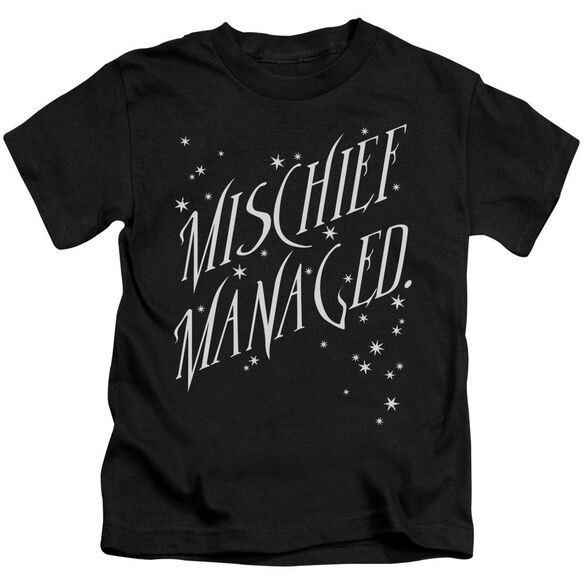 Harry Potter Mischief Managed 4 Short Sleeve Juvenile Black T-Shirt