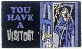 Grim Reaper You Have A Visitor Doormat