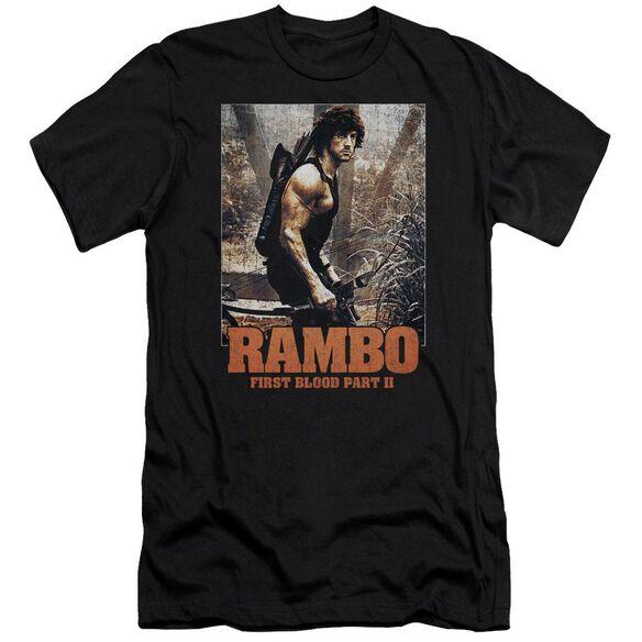 Rambo:First Blood Ii The Hunt Premuim Canvas Adult Slim Fit