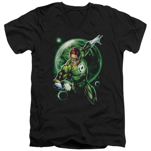 Green Lantern Galaxy Glow Short Sleeve Adult V Neck T-Shirt