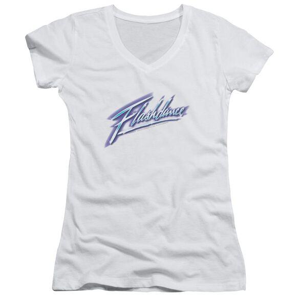 Flashdance Logo Junior V Neck T-Shirt