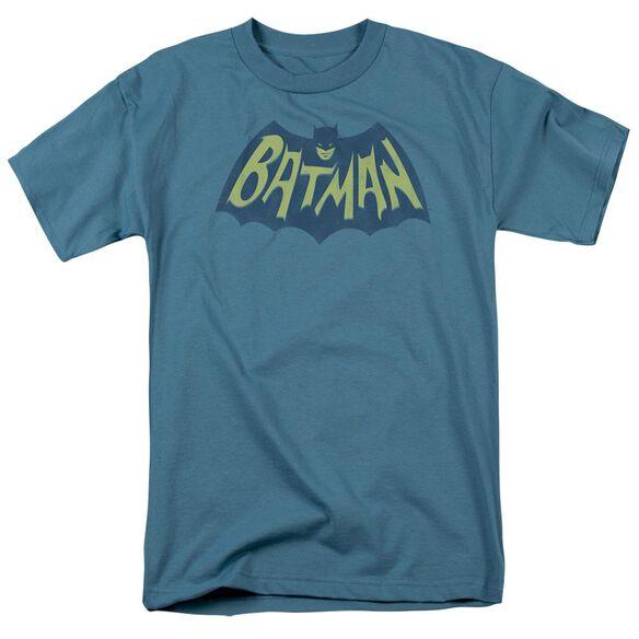 Batman Show Bat Logo Short Sleeve Adult Slate T-Shirt