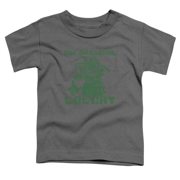 Garfield Og Lol Short Sleeve Toddler Tee Charcoal T-Shirt