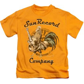 Sun Rockin Rooster Logo Short Sleeve Juvenile Athletic Heather T-Shirt
