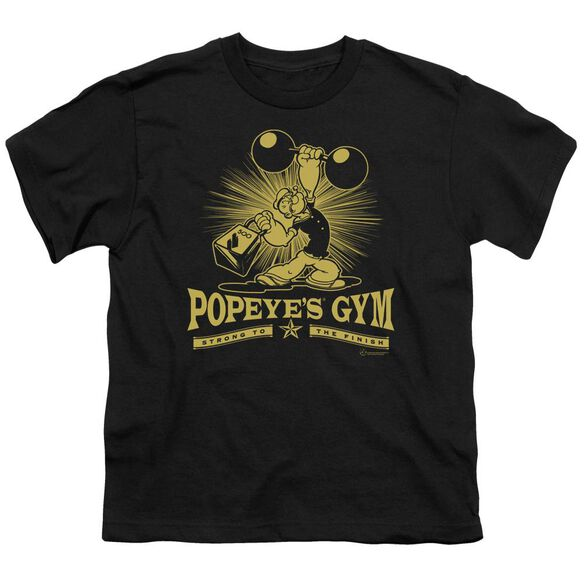 POPEYE POPEYES GYM - S/S YOUTH 18/1 - BLACK T-Shirt