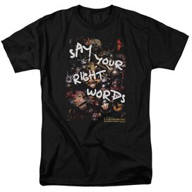 Labyrinth Right Words Short Sleeve Adult T-Shirt