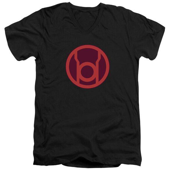 Green Lantern Red Symbol Short Sleeve Adult V Neck T-Shirt