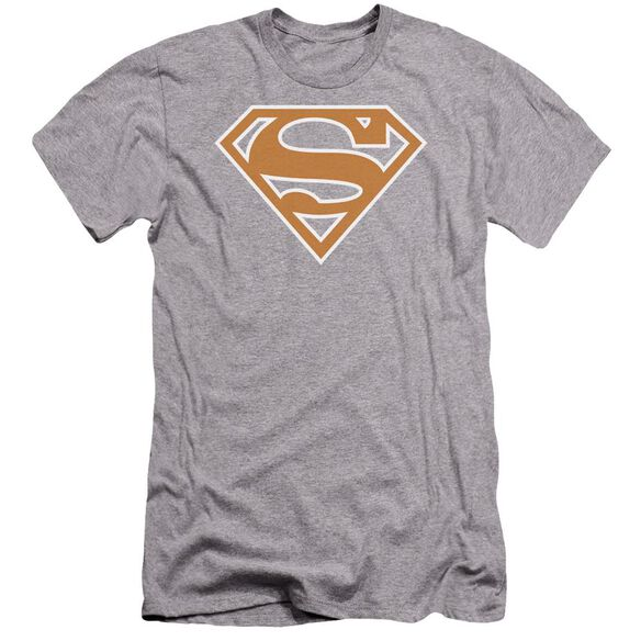 Superman Burnt Orange&White Shield Premuim Canvas Adult Slim Fit Athletic